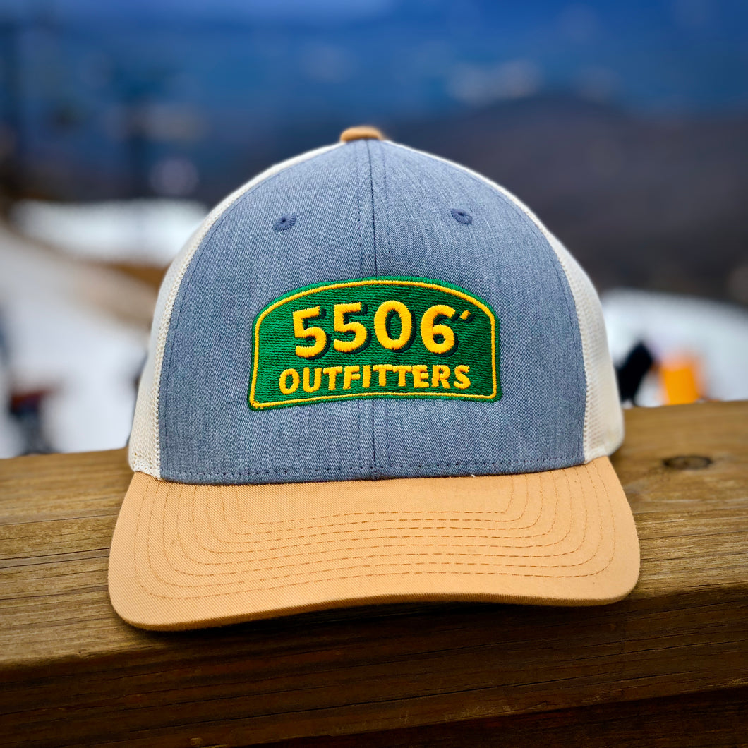 6-Panel Mesh Hat with 5506' Overland Logo
