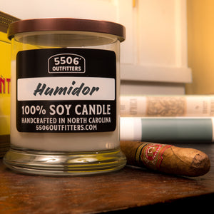 Humidor Candle in 12-Ounce Reusable Cocktail Glass