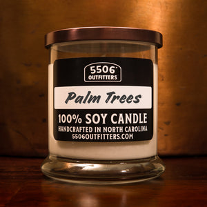 Palm Tree Candle in a 12-Ounce Reusable Cocktail Glass