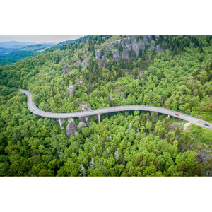 "Linn Cove Viaduct II: 24""x36"" Wood Print"