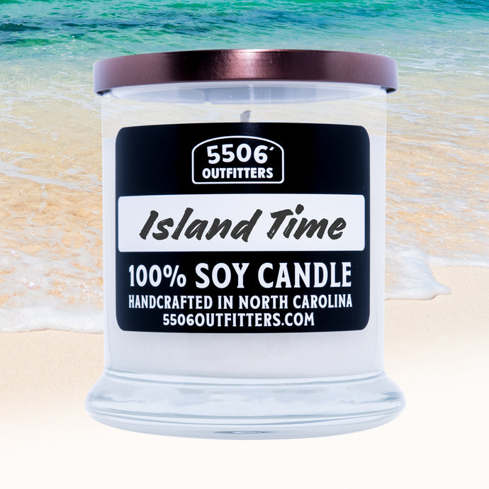 Island Time Candle in a 12-Ounce Reusable Glass