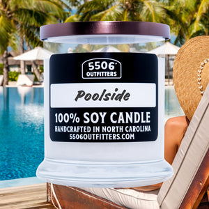 Poolside Candle in a 12-Ounce Reusable Glass