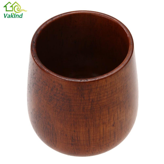 Chinese Style Handmade Natural Spruce Wood Wooden Cup Mug Breakfast Milk Coffee Cup Drinkware Kitchen Accessories