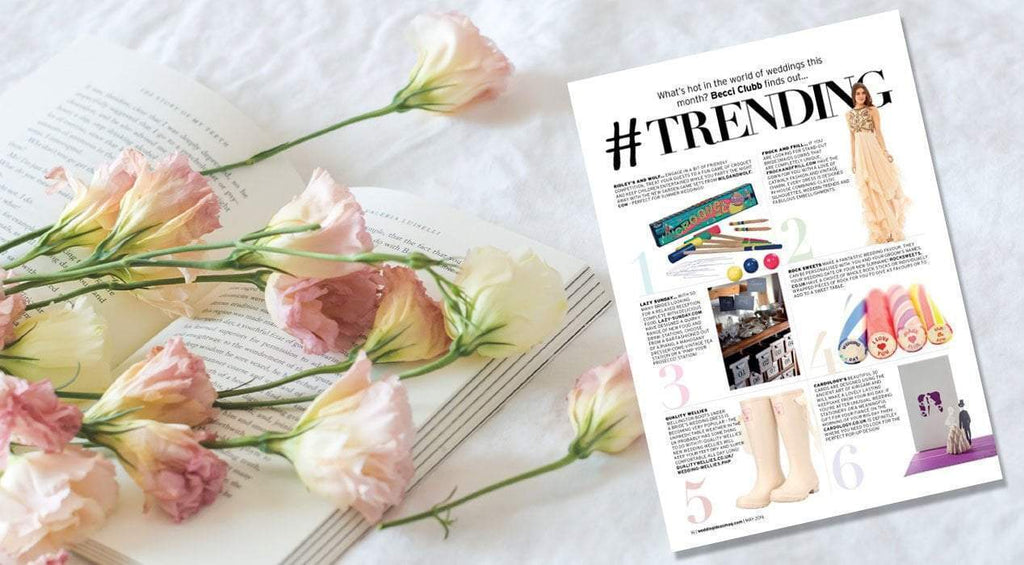 #Trending - IDO Wedding Wellies in Wedding Magazine