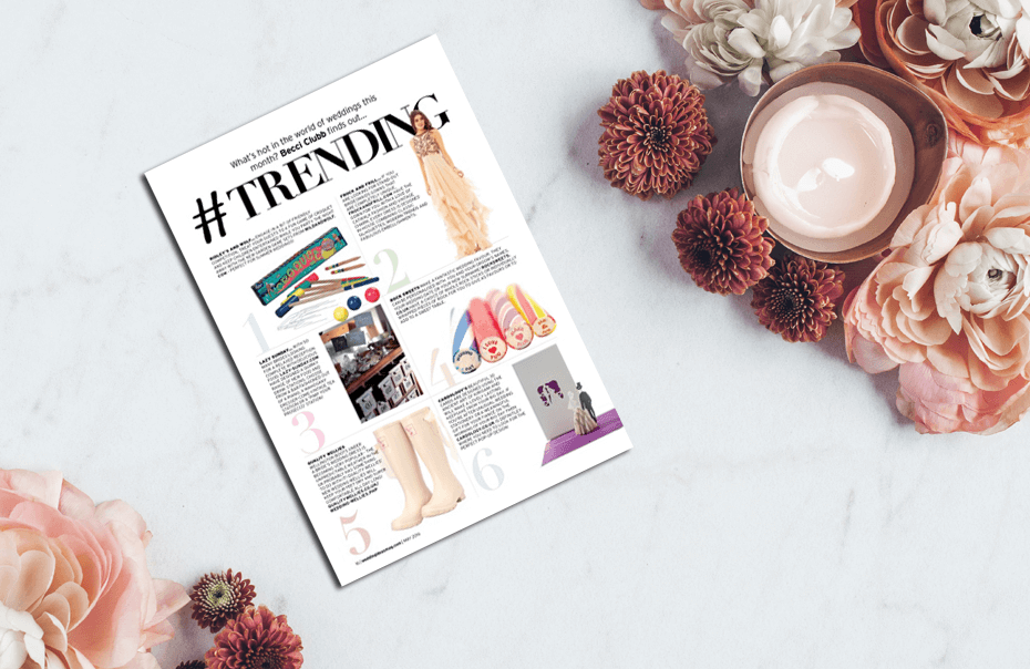 Spotted! Top Wedding Wellies in Wedding Magazine