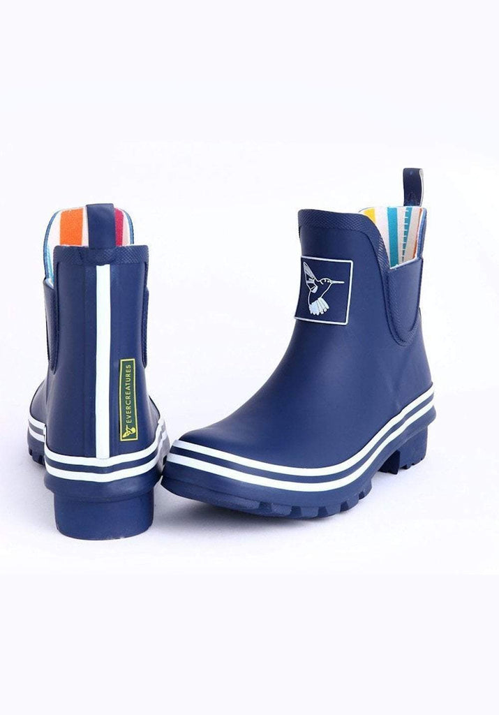 Evercreatures Blue Meadow Ankle Wellies - Evercreatures wellies