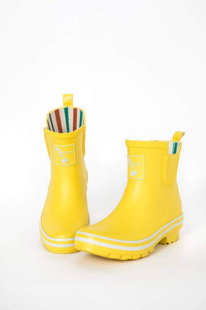 Evercreatures Yellow Meadow Ankle Wellies - Evercreatures wellies