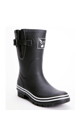 Evercreatures Plain Black Short Wellies - Evercreatures wellies
