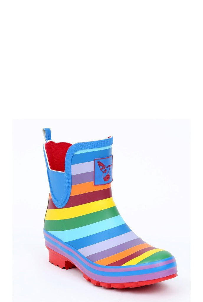 Evercreatures Rainbow Meadow Ankle Wellies - Evercreatures wellies