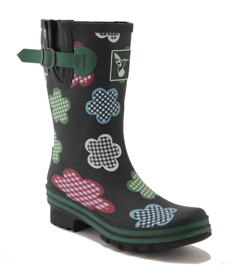 Evercreatures Black Gingham Short Wellies - Evercreatures wellies