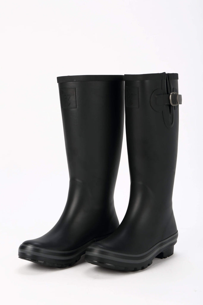 Evercreatures All Black Plain Tall Wellies - Evercreatures wellies