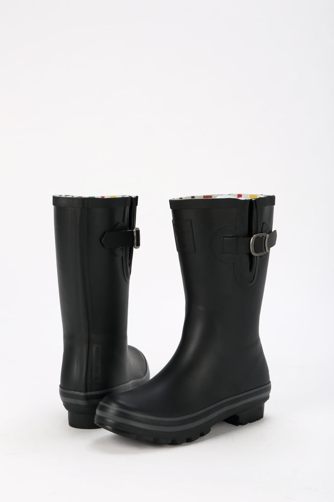 Evercreatures All Black Plain Short Wellies - Evercreatures wellies