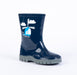 Evercreatures - Woodstock Kids Navy Helicopter Wellington Boots