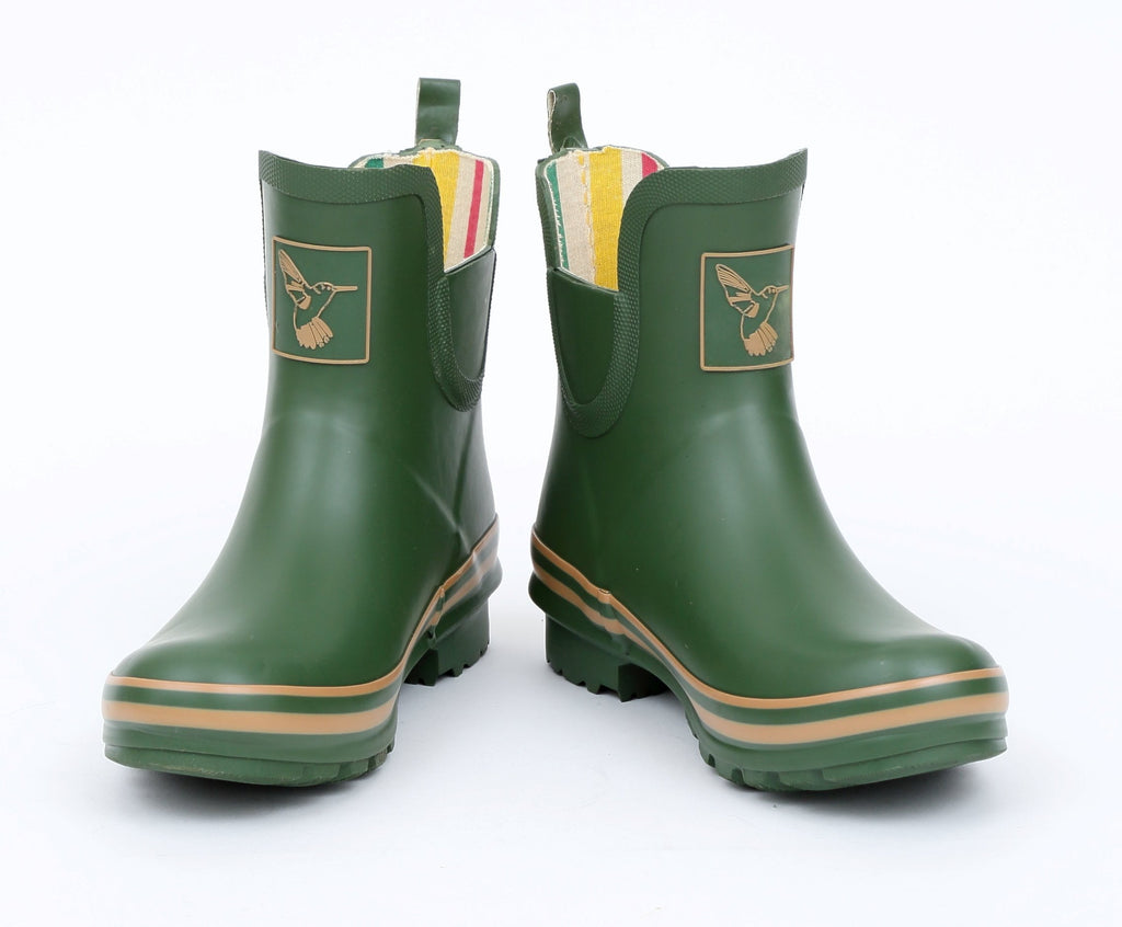 Evercreatures Green Meadow Ankle Wellies - Evercreatures wellies