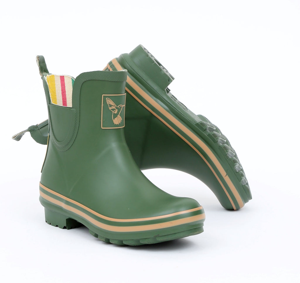 Evercreatures Green Meadow Ankle Wellies