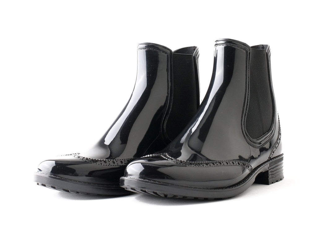 Evercreatures PVC Black Rum Chelsea Wellies - Evercreatures wellies