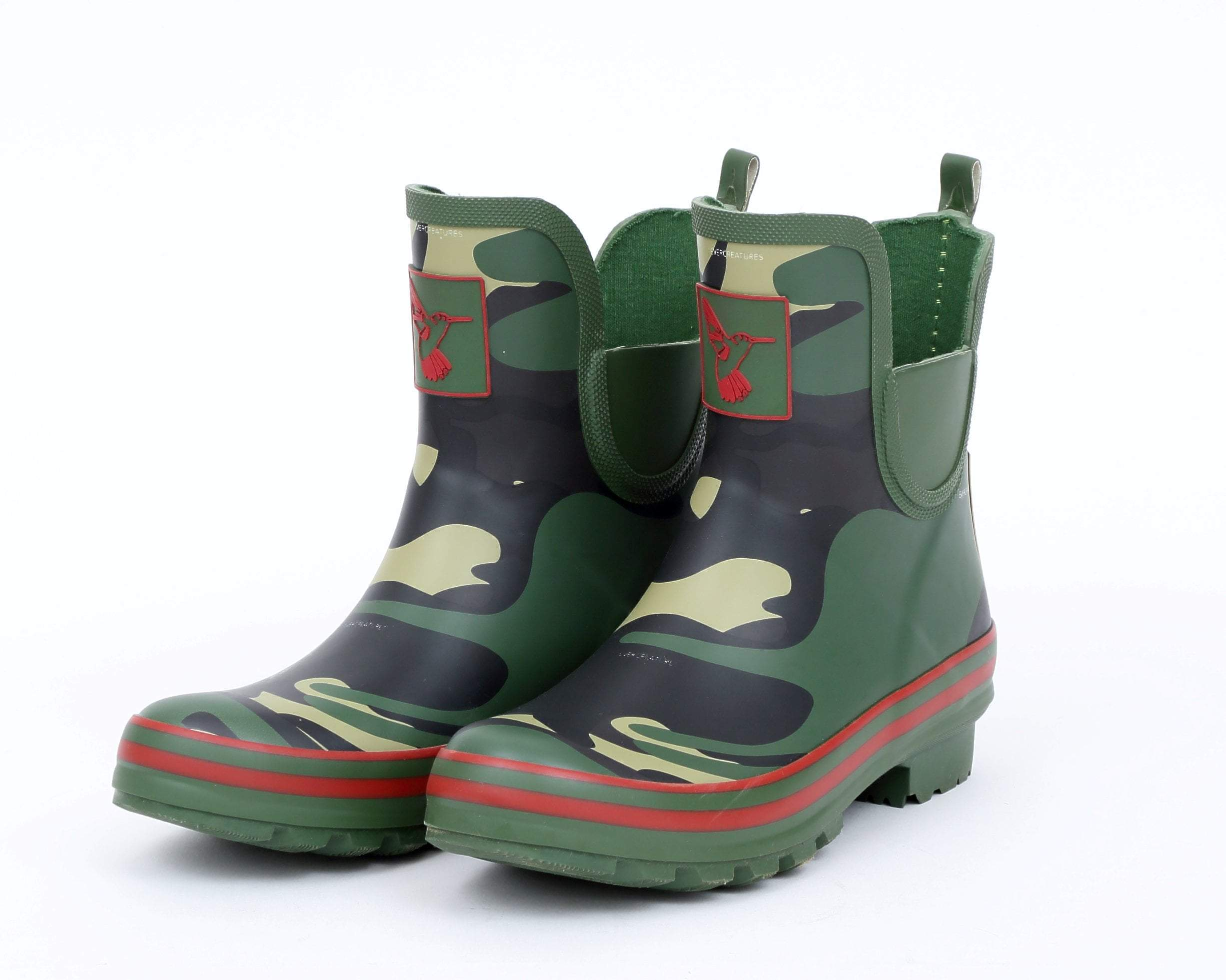 Evercreatures Camouflage Meadow Ankle Wellies - Evercreatures wellies