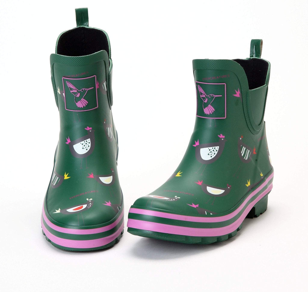 Evercreatures Chicken Meadow Ankle Wellies - Evercreatures wellies