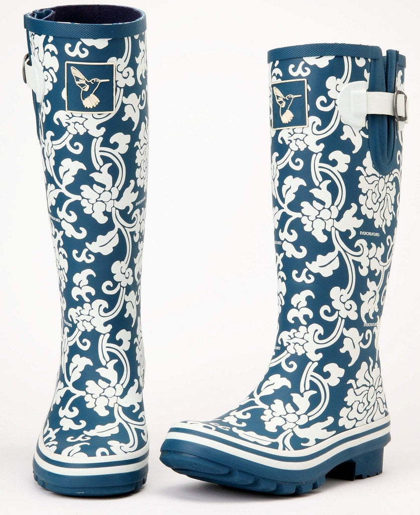 Evercreatures Delft Tall Wellies - Evercreatures wellies