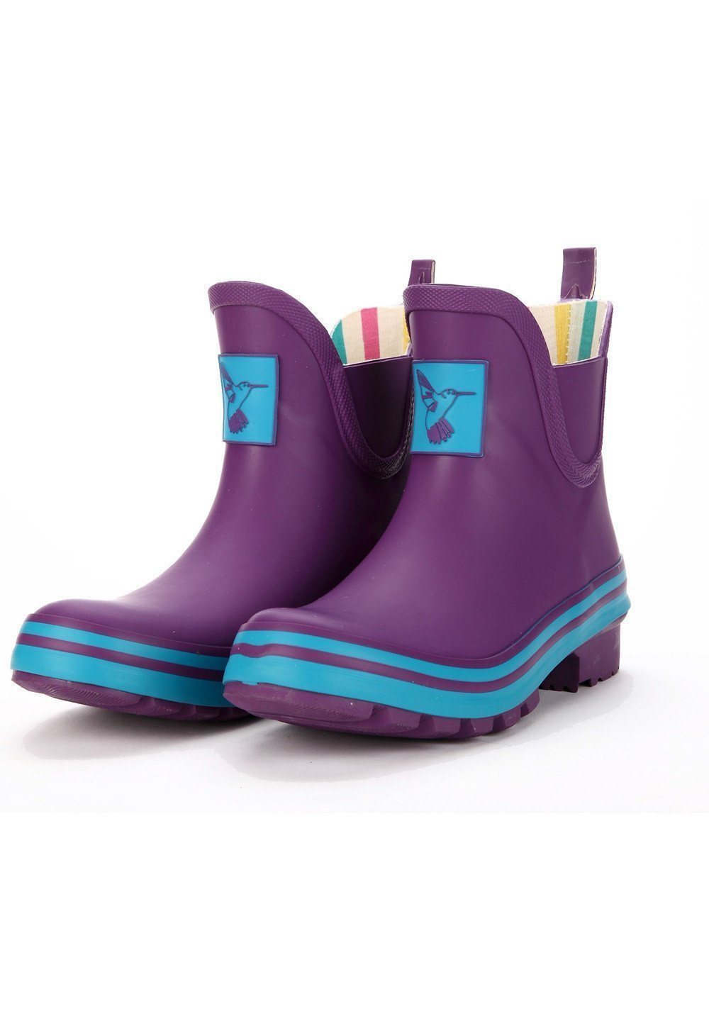 Evercreatures Eggplant Meadow Ankle Wellies - Evercreatures wellies