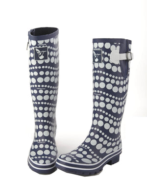 Evercreatures  Dancing Dots Tall Wellies - Seconds