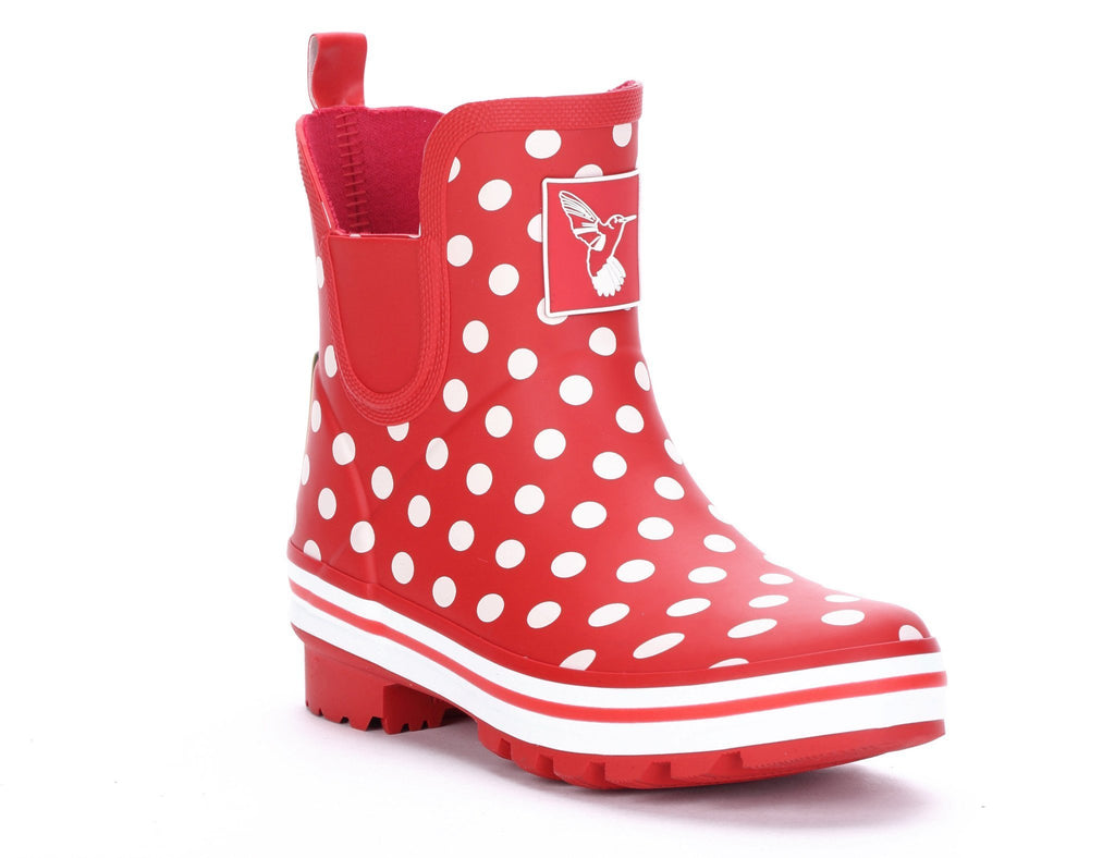Evercreatures Polka Dot Meadow Ankle Wellies - Evercreatures wellies