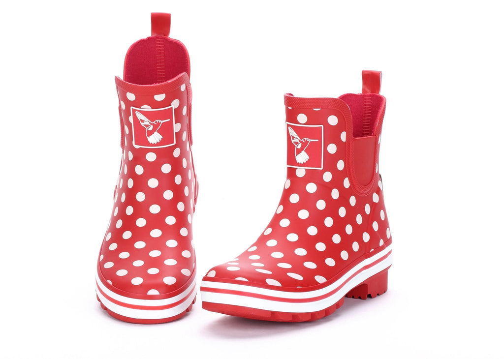Evercreatures Polka Dot Meadow Ankle Wellies