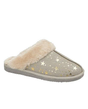 Evercreatures - Tally Light Grey Star Slipper - Light Grey