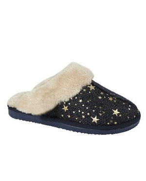 Evercreatures - Tally Navy Star Slipper - Navy