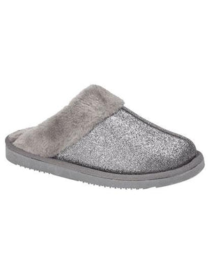 Evercreatures - Twinkle Grey Sparklie Slipper - Grey