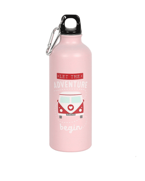 Adventure Metal Water Bottle - Pink