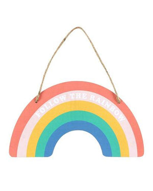 Wooden Rainbow Hanging Sign