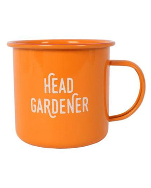 Evercreatures - Head Gardener Enamel Mug - Orange