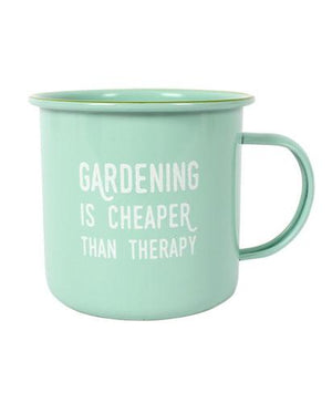 Evercreatures - Garden therapy Enamel Mug - Mint