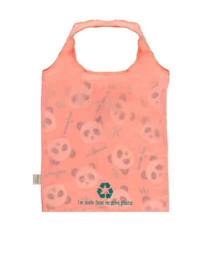 Evercreatures - Penny Panda Foldable Shopper - Pink
