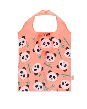 Penny Panda Foldable Shopper - Pink
