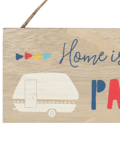 Evercreatures - Home Is Where You Park It Sign - Natural