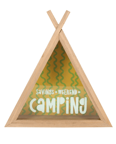 Evercreatures - Camping Fund Teepee Money Box - Natural