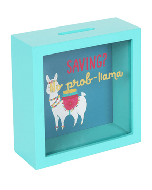 Evercreatures - No Prob-Llama Money Box - Turquoise