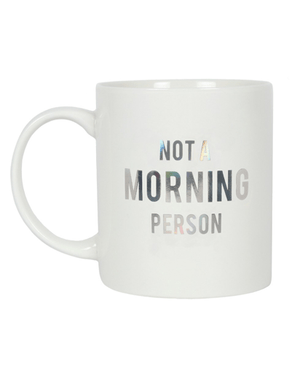 Not a Morning Person Money Mug - White