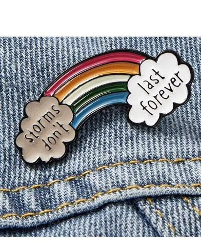 Evercreatures - Positive Storms Rainbow Pin Badge