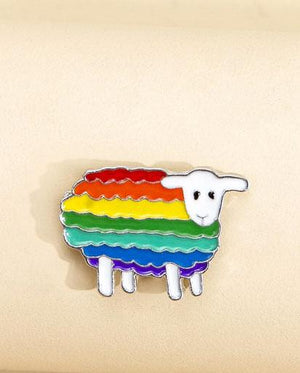 Evercreatures - Rainbow Sheep Pin Badge