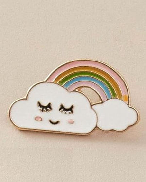 Happy Sleepy Rainbow Pin Badge