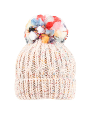 Evercreatures - Deckie Chunky Knit Pom Pom Hat - Cream