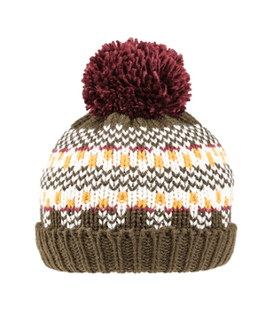 Boys Felly Knitted Bottle Hat - Olive