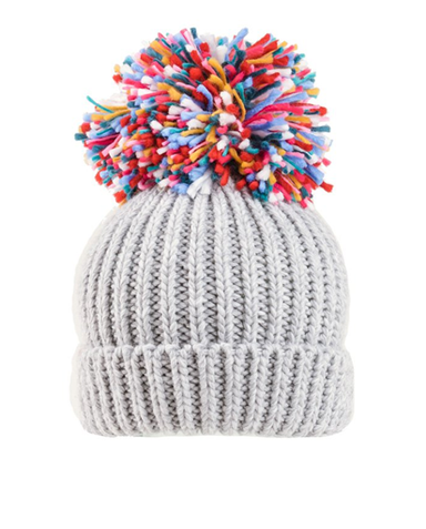 Evercreatures - Firework Large Knitted Pompom Hat - Cream