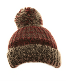 Evercreatures - Girls Jano Chunky Knitted Bottle Hat - Dark Pink