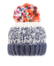 Evercreatures - Ladies Lulu Chunky Knit Bobble Hat - Fleece Lined - Navy