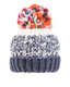 Ladies Lulu Chunky Knit Bobble Hat - Fleece Lined - Navy