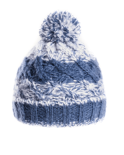Evercreatures - Mens Pop Bobble Hat - Fleece Lined - Blue
